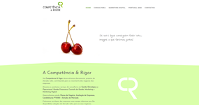 screenshot of the project Competência & Rigor
