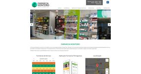 screenshot of the project Farmácia Monteiro